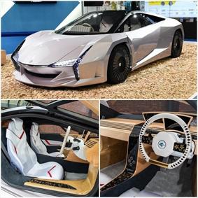 ساخت خودرو از جنس چوب در ژاپن