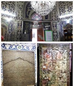مقبره و سنگ قبر فتحعلیشاه و کتیبه سلسله قاجار در قم