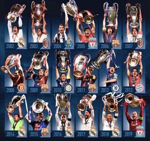 کاپیتانهای قهرمان لیگ قهرمانان اروپا