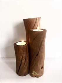 جاشمعی سه گانه چوبی