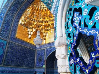هنر کاشی و سنگ در حرم حضرت معصومه سلام الله