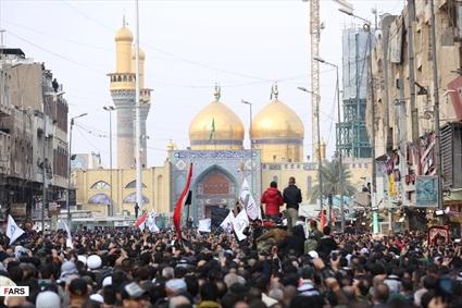 تشییع پیکر «حاج قاسم و ابومهدی» در کاظمین