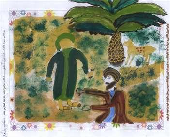 نقاشی های برگزیده هفتمین جشنواره کتابخوانی رضوی