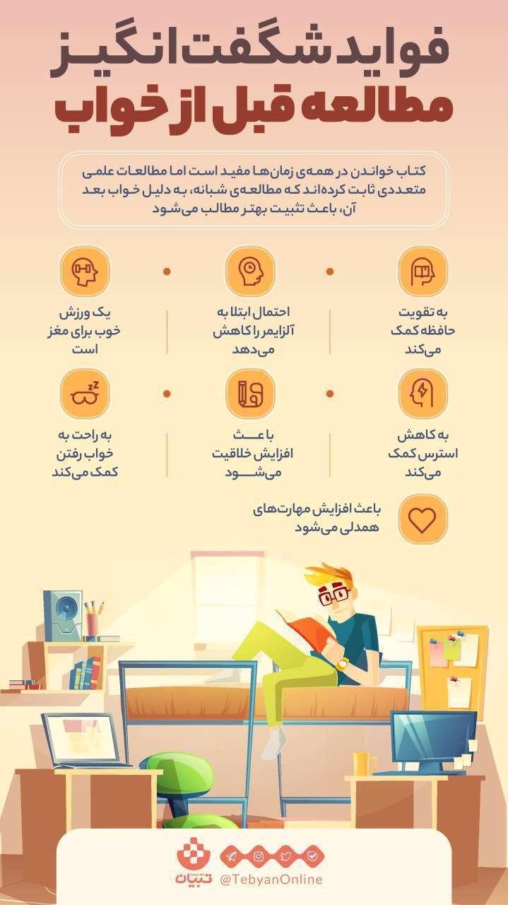 مطالعه قبل خواب، کتاب خواندن، مطالعات علمی، مطالعه شبانه، ورزش مغز، آلزایمر، کاهش استرس،
