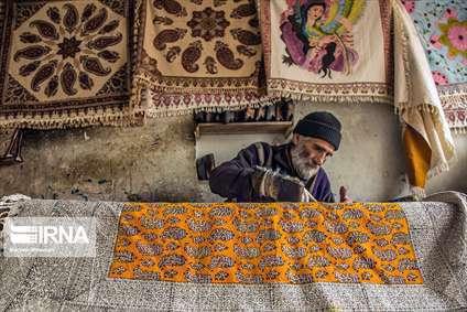 صنعت قلمکاری در بازار سنتی اصفهان