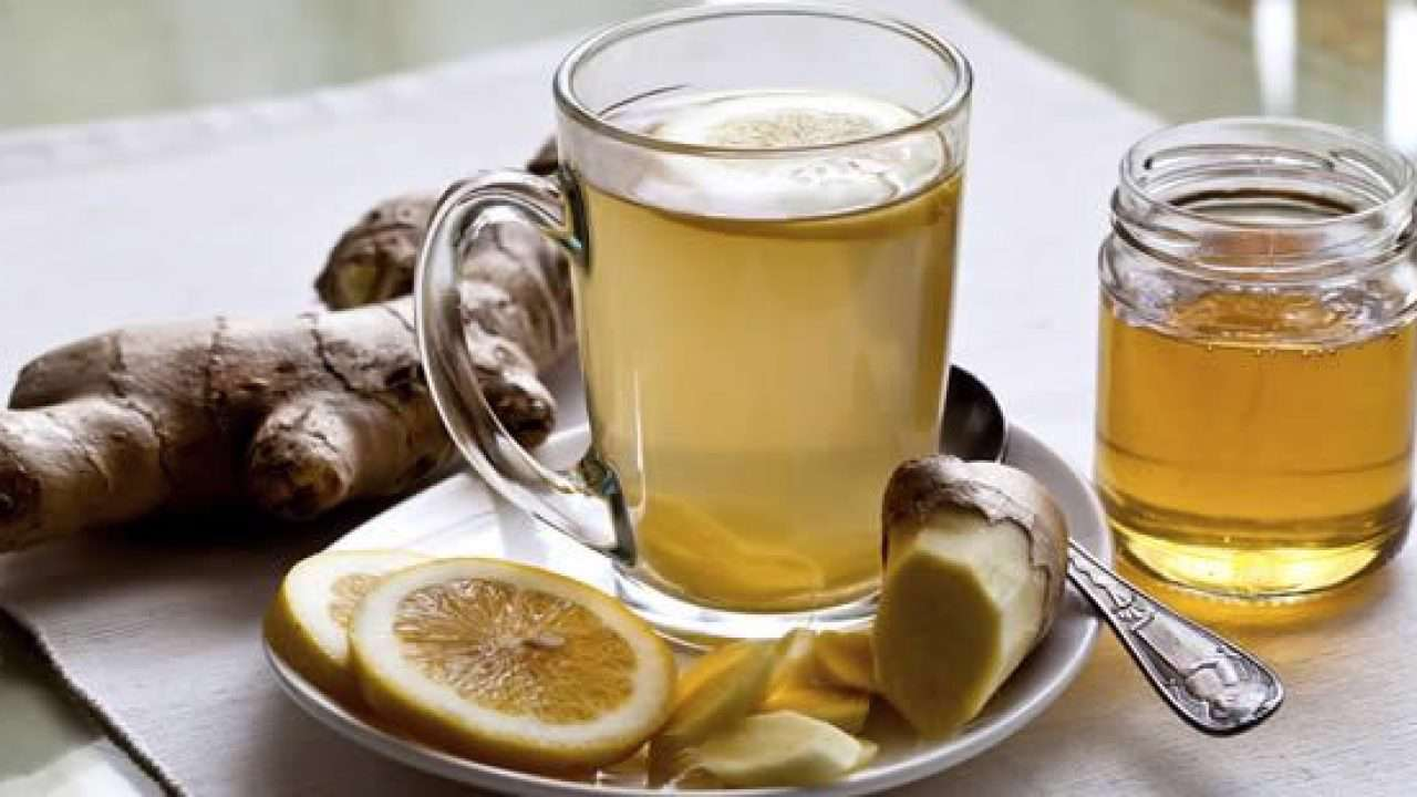 چای زنجبیل و لیمو