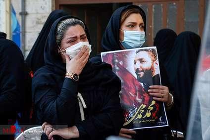 مراسم تشیع پیکر محمد محمدی، شهید امر به معروف