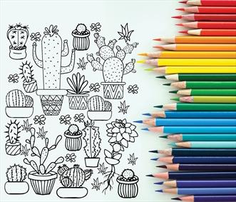 تصویر گیاهان برای رنگ آمیزی کودکان