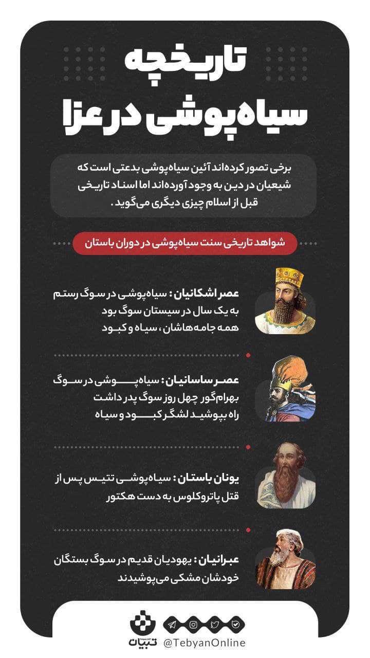 تاریخچه سیاه پوشی عزا ، اینفوگرافیک ،