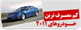 کم مصرف ترین خودروهای2011
