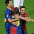 شادی بازیکنان بارسلونا پس از قهرمانی