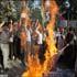 une manifestation à téhéran contre le projet de brûler le coran,