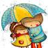باران و يک صورت گرد بزرگ